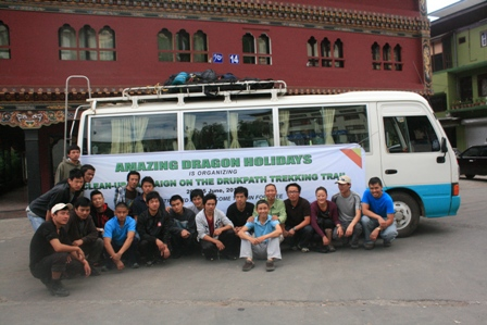 Clean-up campaign in Bhutan